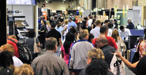shoppers on show floor